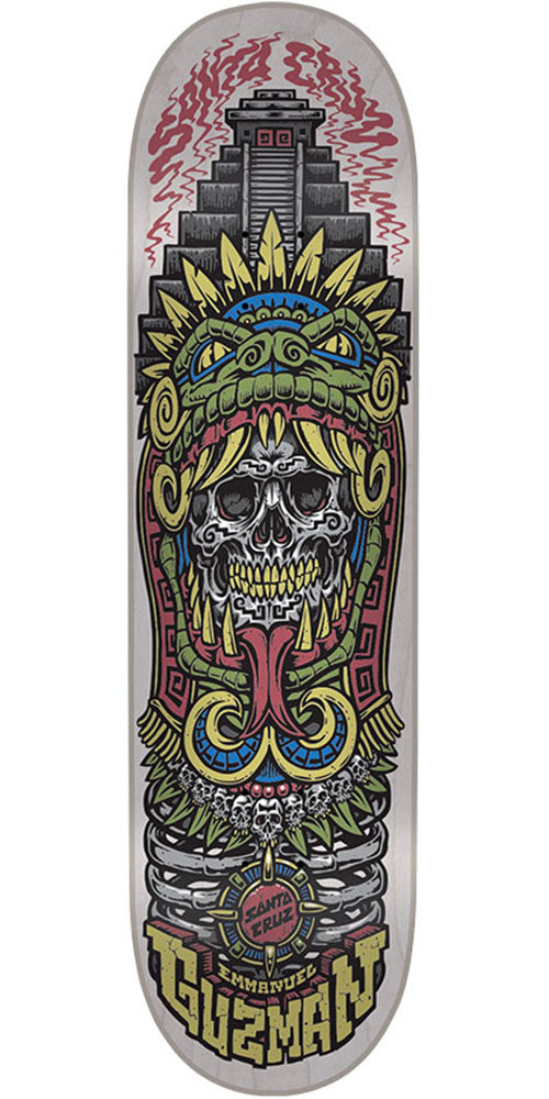 Santa Cruz Guzman Aztec Pro Skateboard Deck - Off White - 8.2in x 31.9in