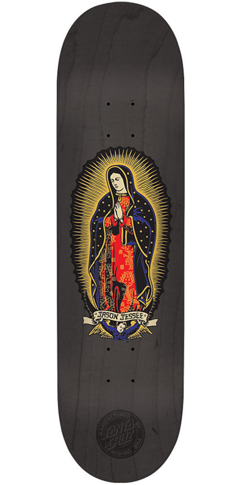 Santa Cruz Jessee Guadalupe Black n Gold Pro Skateboard Deck - Black - 8.125in x 31.7in