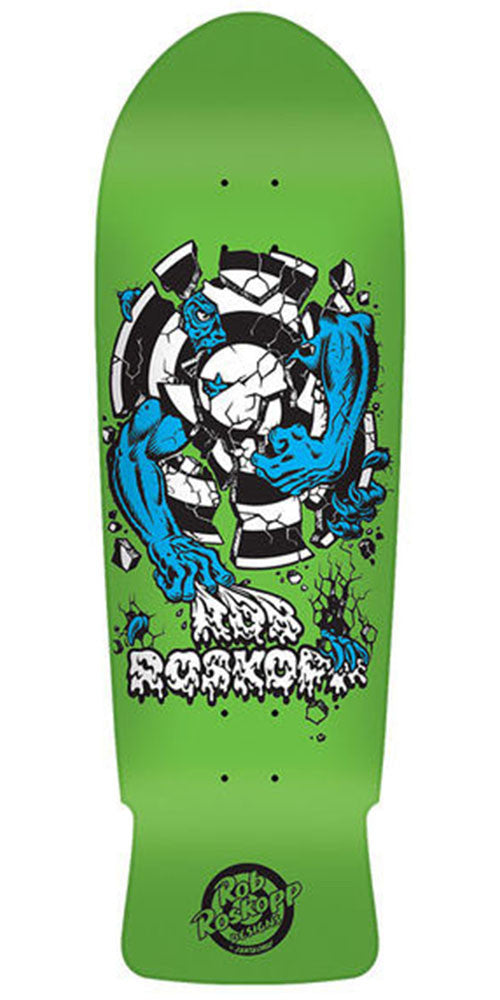 Santa Cruz Rob Target 3 Reissue Skateboard Deck - Green Fluoerescent - 10.25in x 30.03in