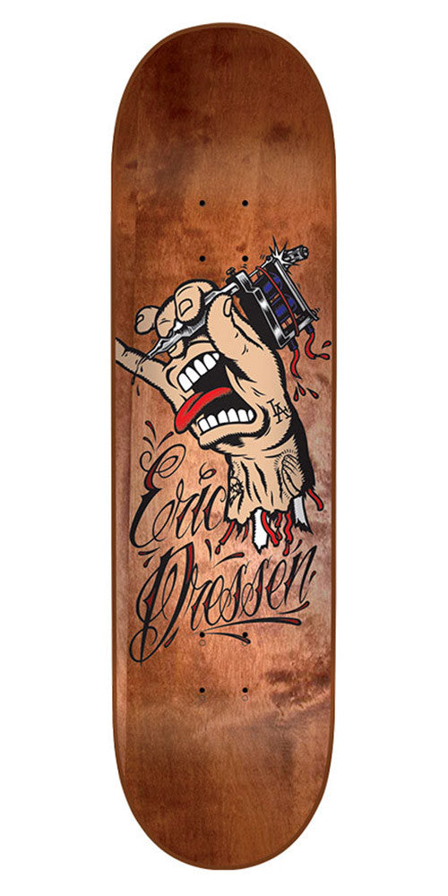 Santa Cruz Dressen Tattoo Hand Pro Skateboard Deck - Natural - 8.6in x 32.2in
