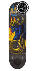 Santa Cruz Asta Zodiac Pro P2 Skateboard Deck - Black - 8in x 31.6in