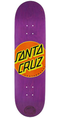 Santa Cruz Classic Dot Purps Team Skateboard Deck - Purple - 8.5in x 32.2in
