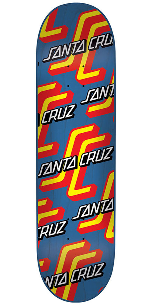 Santa Cruz OGSC Pattern Hard Rock Maple Skateboard Deck - Blue - 8.0in x 31.6in
