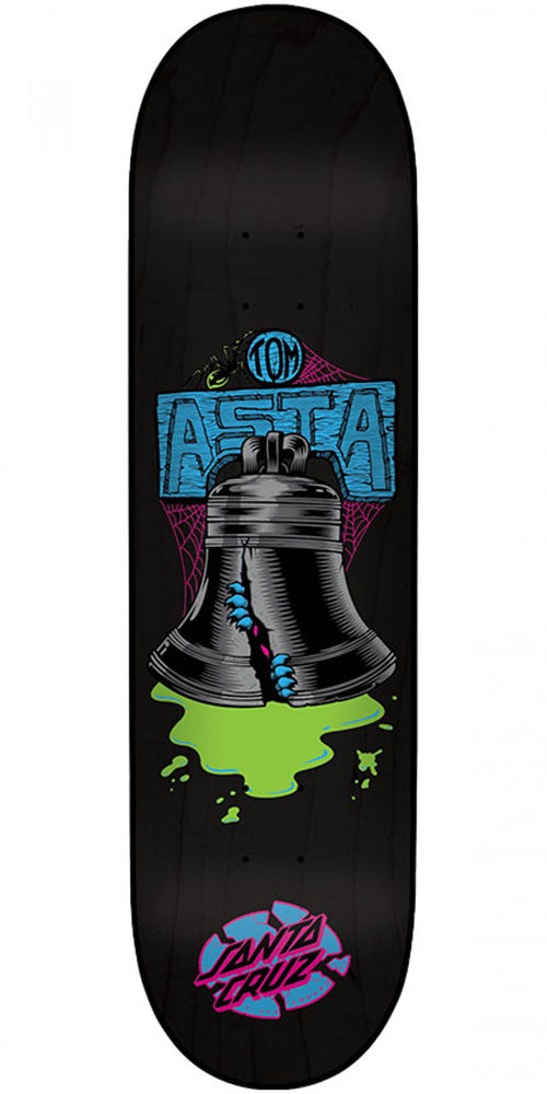 Santa Cruz Asta Bell Skateboard Deck - Black - 8.0in x 31.6in