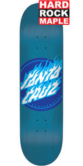 Santa Cruz Blue Flame Dot Skateboard Deck - Blue - 8.0in x 31.6in