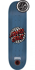 Santa Cruz Borden Check Waste Dot Skateboard Deck - Blue - 8.5in x 32.2in