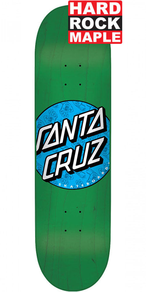 Santa Cruz Hand Fill Dot Skateboard Deck - Green - 7.5in x 31.0in
