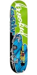 Krooked Gonz Sk8loco Lowrider Skateboard Deck - Green - 8.38in x 32.56in