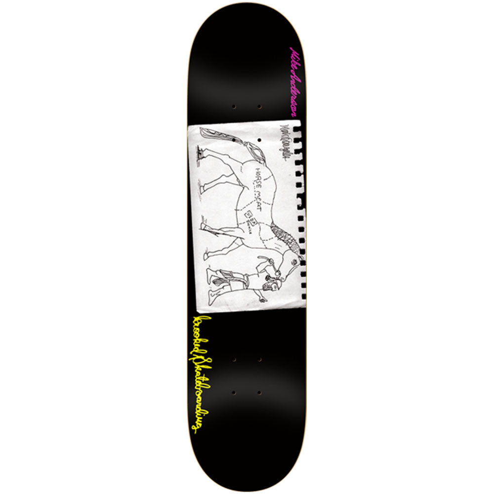 Krooked Anderson Lead Skateboard Deck - Black - 8.25in x 32.0in