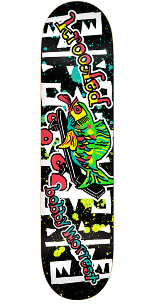 Krooked Worrest Fishstick Skateboard Deck - Black - 8.18in x 31.84in
