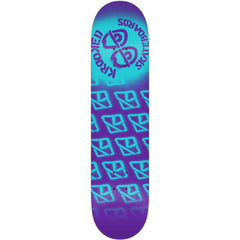 Krooked Difused PP Small Skateboard Deck - Purple - 7.75in x 31.25in