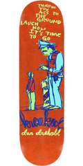 Krooked Dan Drehobl In Trouble Skateboard Deck - Red - 8.12in x 31.06in
