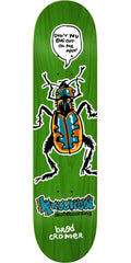 Krooked Cromer Bug Out Skateboard Deck - Green - 8.38in x 32.18in