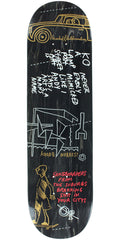 Krooked Bobby Worrest Suburbia Skateboard Deck - Black - 8.3in x 32.43in