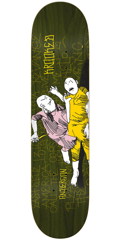 Krooked Mike Anderson Street Justice Skateboard Deck - Olive - 8.25in x 32in