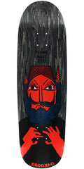 Krooked Dan Time Will Tell Skateboard Deck - Black - 9.33in x 33in