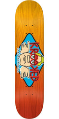 Krooked Dan Arketype Fade Skateboard Deck - Red/Orange - 8.75in x 32.75in