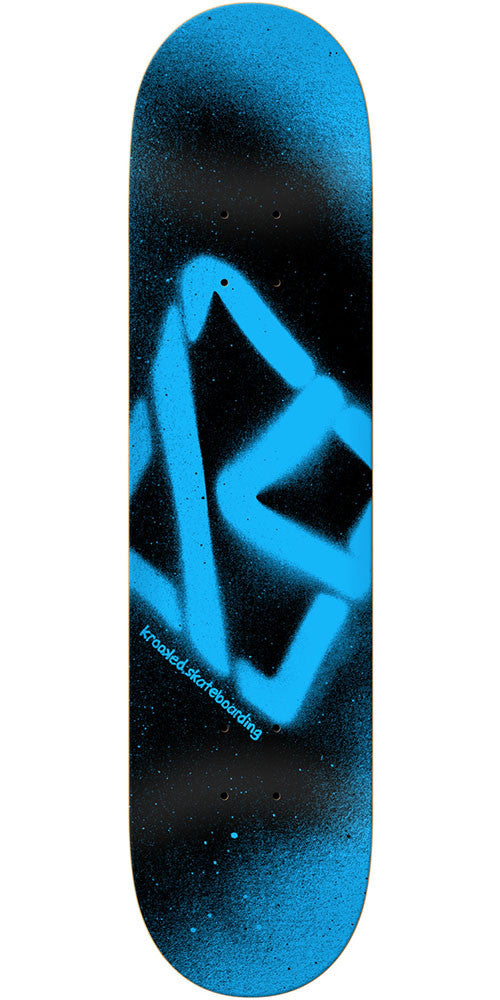 Krooked Spray PP Skateboard Deck - Blue/Black - 8.5in x 32.5in