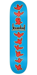 Krooked Birdical PP XL Skateboard Deck - Blue - 8.5in x 32.18in