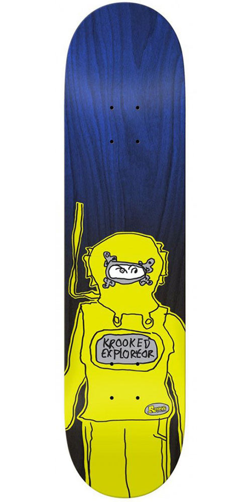 Krooked Ronnie Exploreor Skateboard Deck - Navy - 8.75in x 32.6in