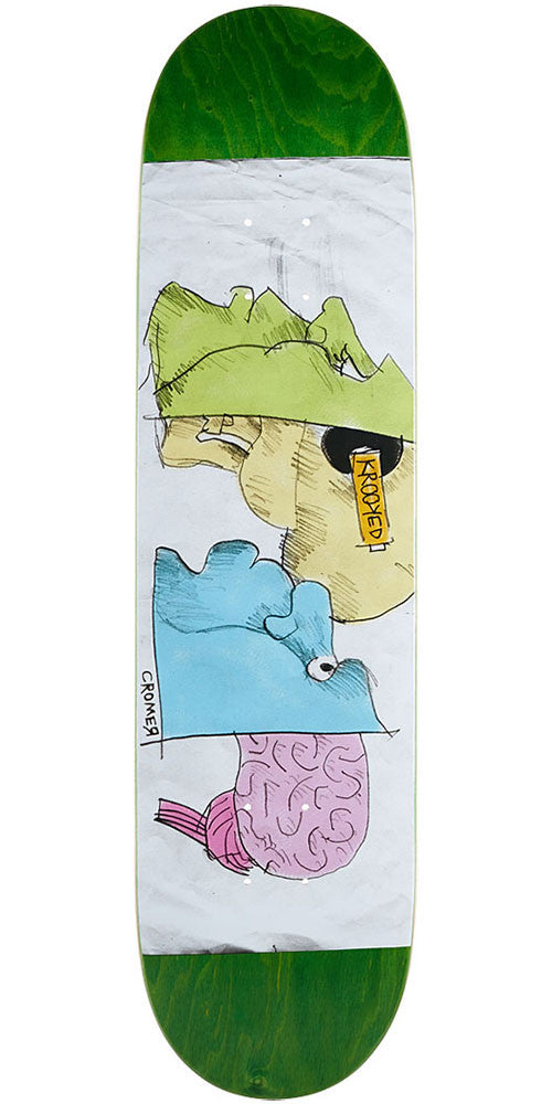 Krooked Cromer Brane Drane Skateboard Deck - Assorted - 8.06in x 31.8in
