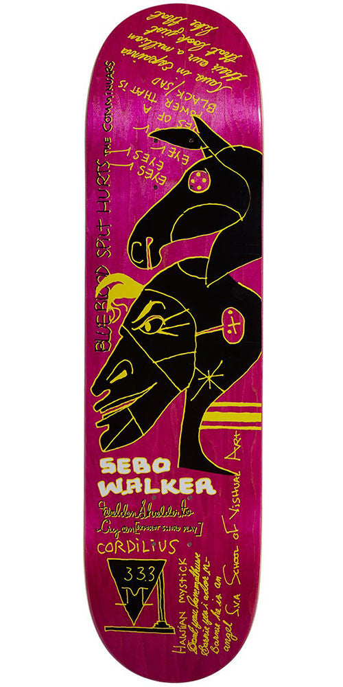 Krooked Sebo Hawaiian Mystick Skateboard Deck - Purple - 8.12in x 31.25in