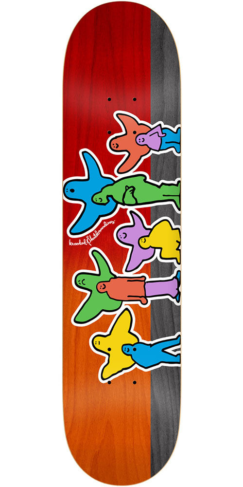 Krooked Pet Klub Skateboard Deck - Multi - 8.75in x 32.86in