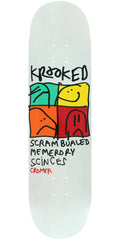 Krooked Cromer KD Ultra Skateboard Deck - Silver - 8.06in x 31.97in