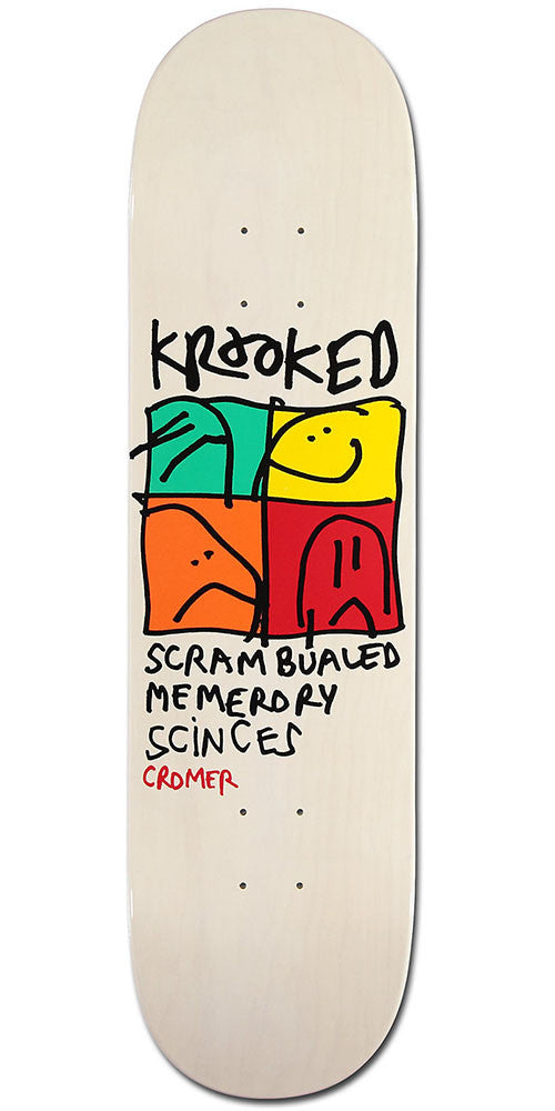 Krooked Cromer KD Ultra Skateboard Deck - Silver - 8.25in x 32in
