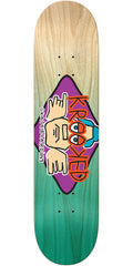 Krooked Arketype Fade Skateboard Deck - Natural/Teal - 8.06in x 31.97in