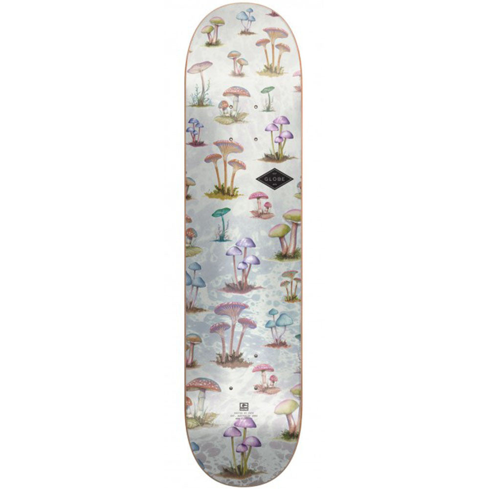 Globe Full On Skateboard Deck - Mushroom Hunt - 8.125in