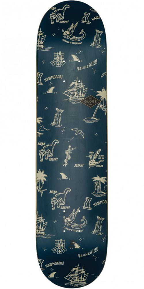 Globe Full On Skateboard Deck - Navy/Creswick - 7.75in x 31.6in