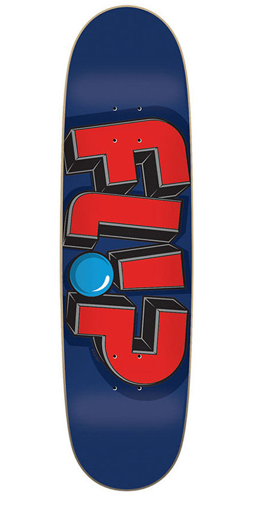 Flip Odyssey Jumbled Navy Skateboard Deck 8.25 x 31.5 - Blue/Red