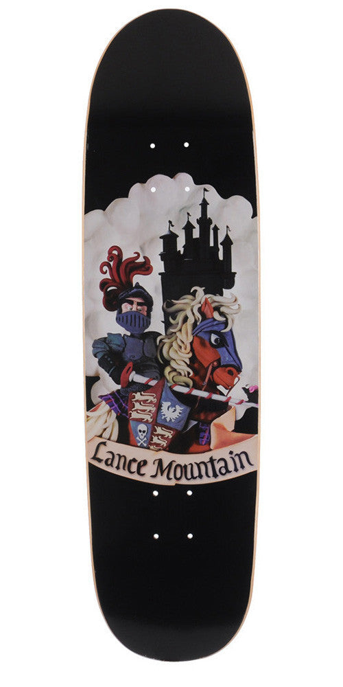 Flip Mountain Sir Lance Cruiser Skateboard Deck - Black - 8.5in