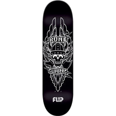 Flip Glifberg Viking Skateboard Deck - Black - 32.75in x 8.5in