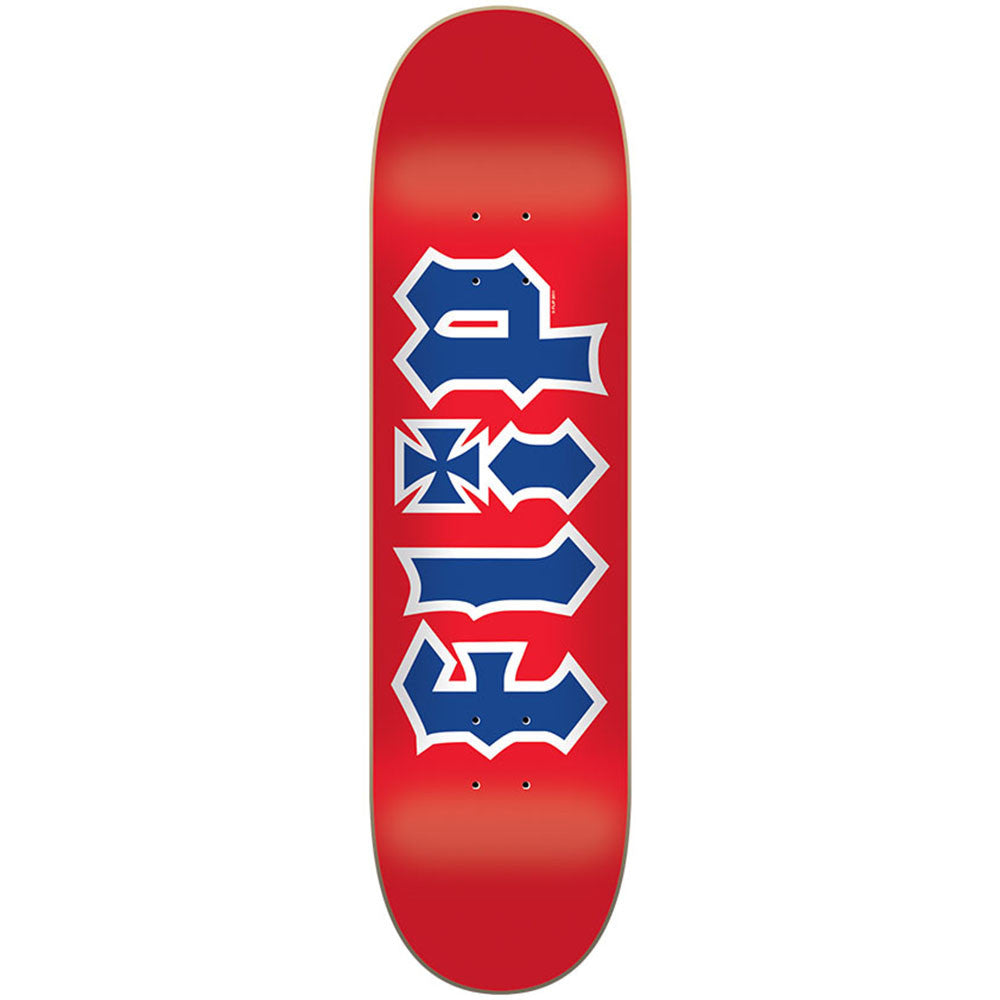 Flip Team HKD RWB Skateboard Deck - Red - 31.5in x 8.0in
