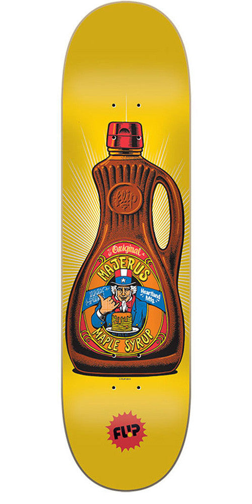 Flip Majerus Syrup Skateboard Deck - Yellow - 32.31in x 8.25in