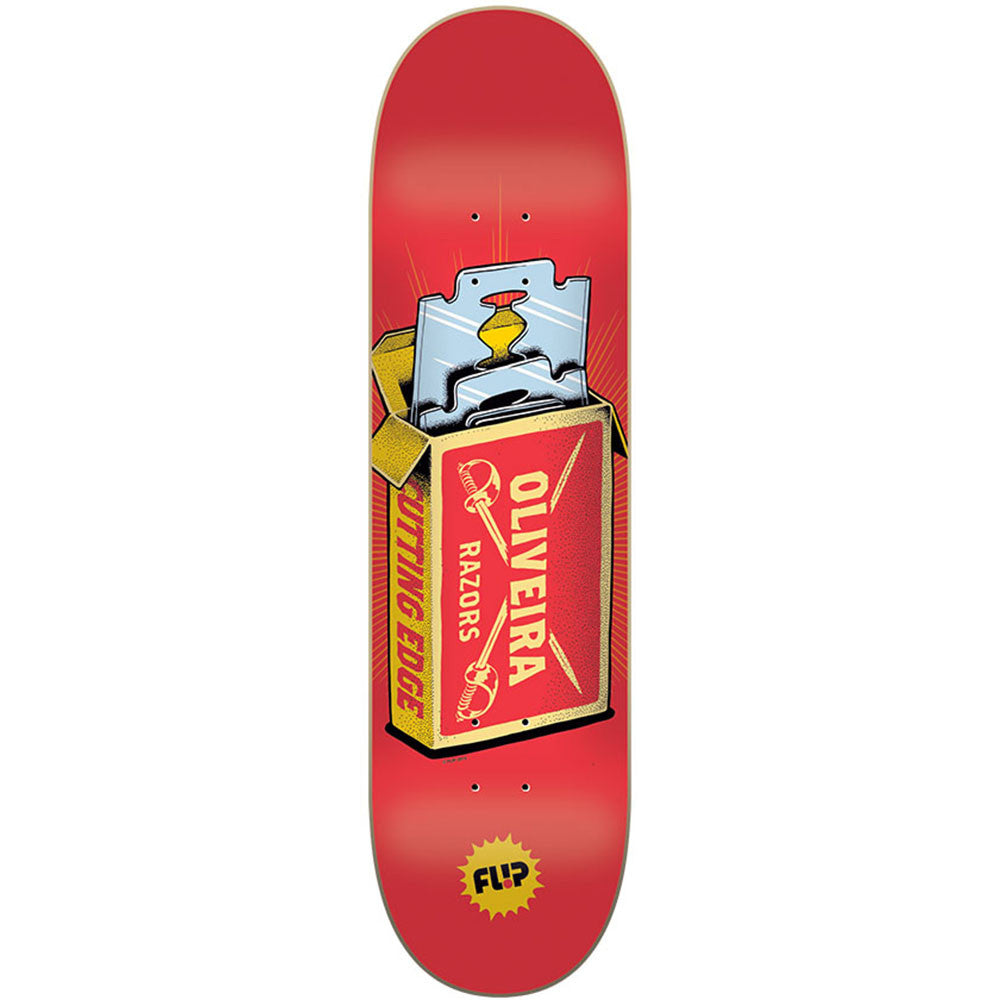 Flip Oliveira Razor Skateboard Deck - Red - 32.0in x 8.13in