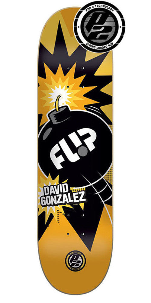 Flip Gonzalez Boom P2 Skateboard Deck - Yellow - 31.5in x 8.0in