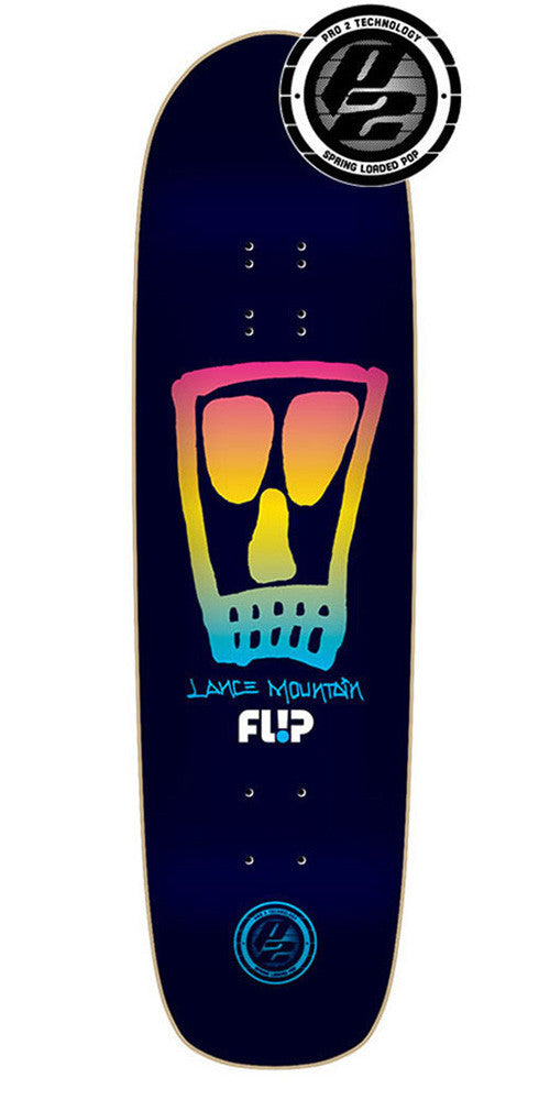 Flip Mountain Vato Skull P2 Skateboard Deck - Black Fade - 32.5in x 9.0in