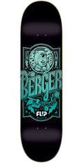 Flip Berger Iconoclastics Series Skateboard Deck - Black - 31.5in x 8.0in