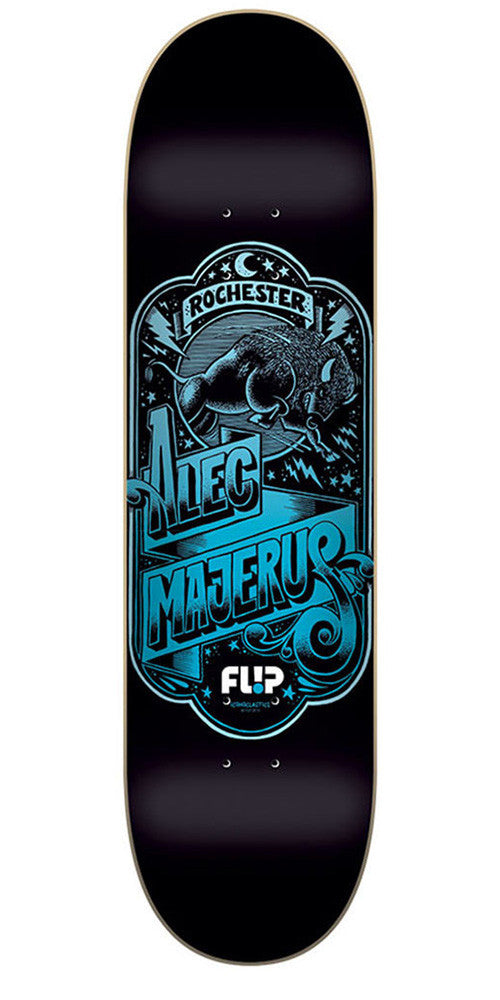 Flip Majerus Iconoclastics Series Skateboard Deck - Black - 32.31in x 8.25in