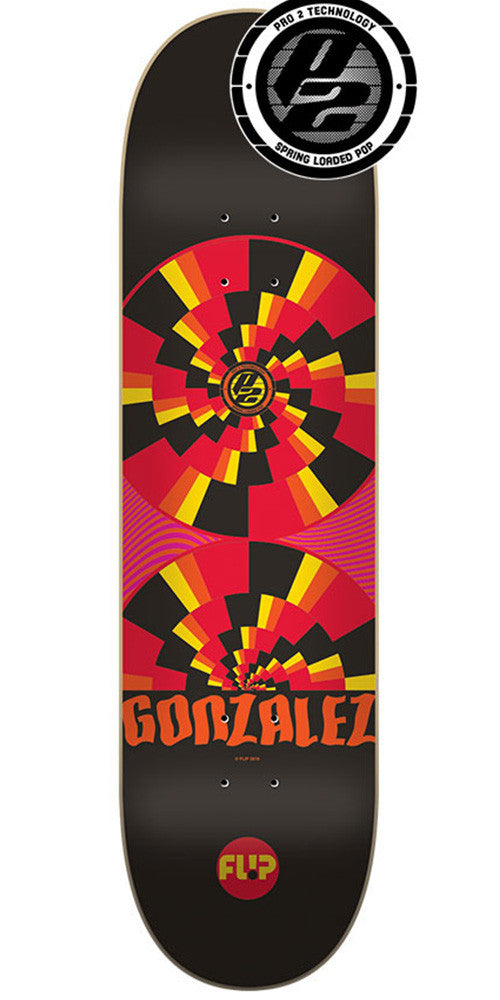 Flip Gonzalez Optical Pro P2 Skateboard Deck - Black - 32.5in x 8.4in