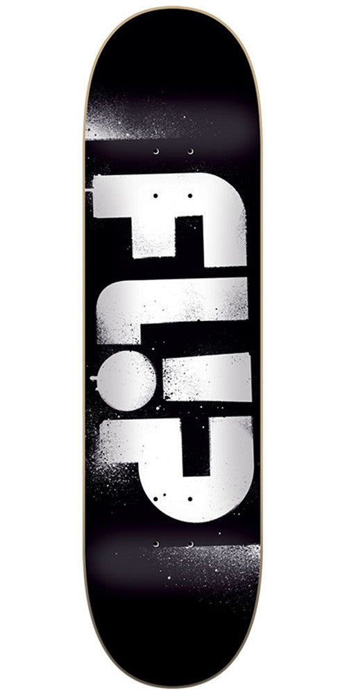 Flip Team Odyssey Stencil Team Skateboard Deck - Black - 32.31in x 8.25in