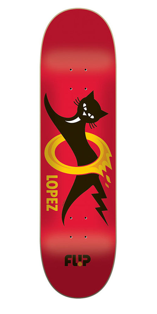 Flip Lopez Black Cat Pro Skateboard Deck - Red - 32.31in x 8.25in