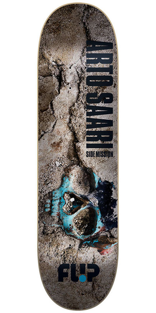 Flip Saari Side Mission Gravside HI Pro Skateboard Deck - Multi - 32.88in x 8.5in