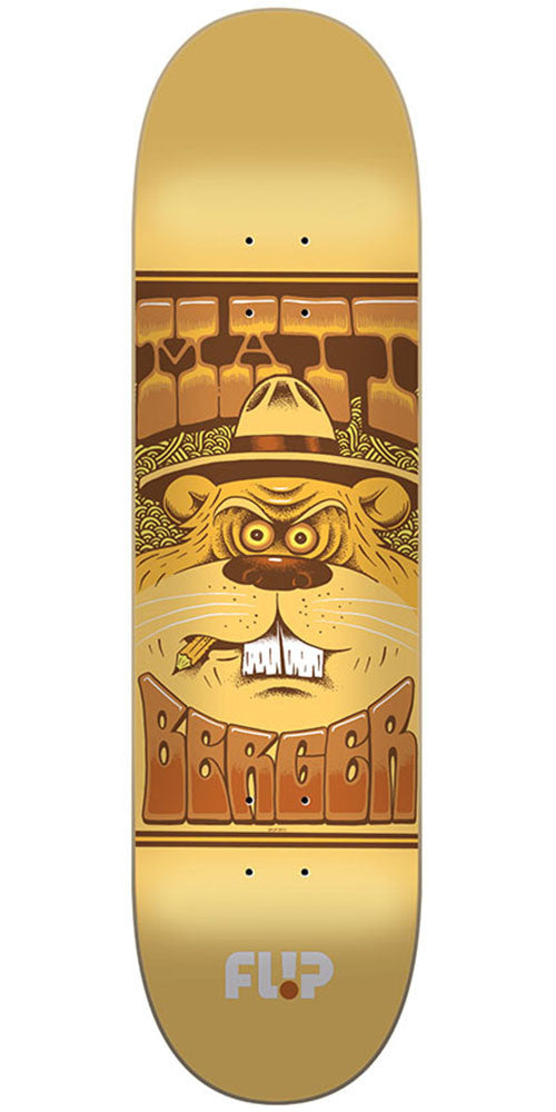 Flip Berger Mercenaries Series Pro Skateboard Deck - Gold - 31.5in x 8.0in