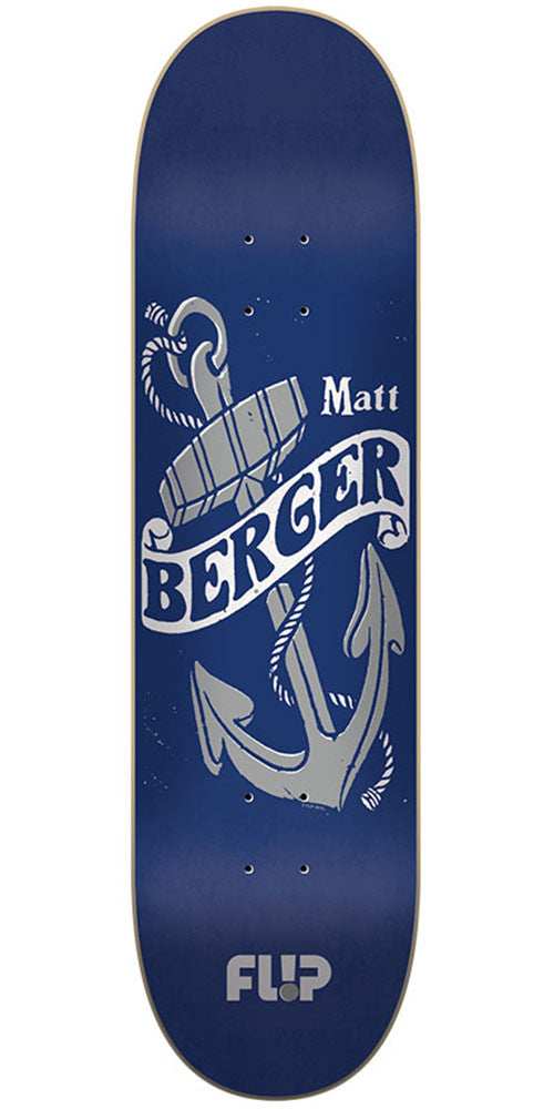 Flip Berger Vintage Pro Skateboard Deck - Blue - 31.5in x 8.0in