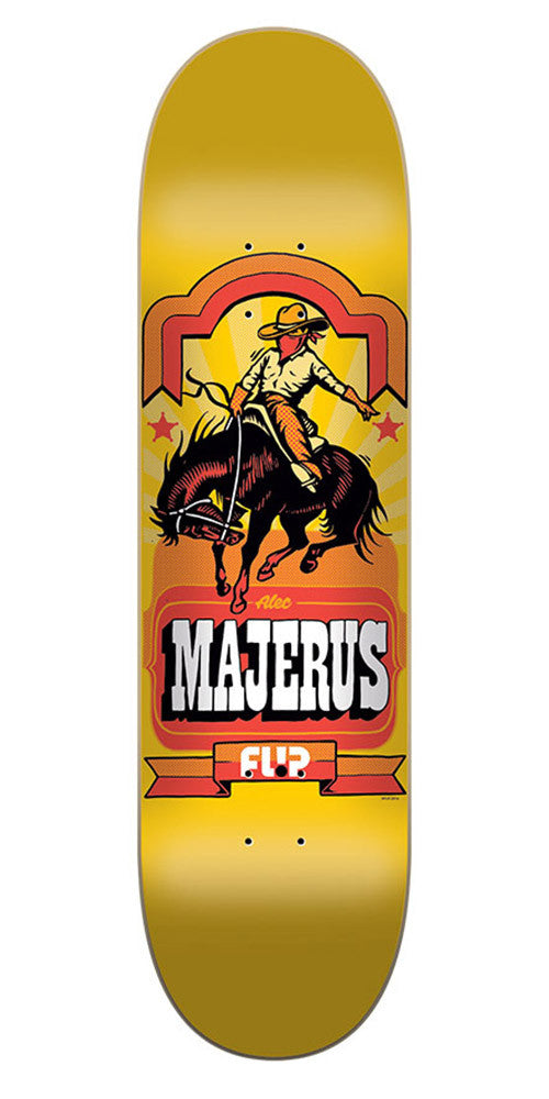 Flip Majerus Gallery Series Pro Skateboard Deck - Yellow - 32.31in x 8.25in