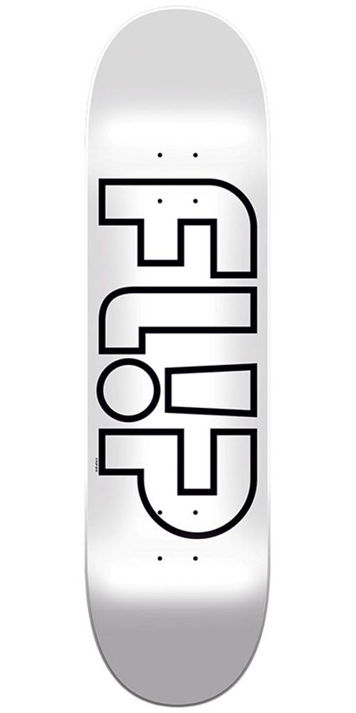 Flip Team Odyssey Whiteout Team Skateboard Deck - Silver - 8in x 31.5in